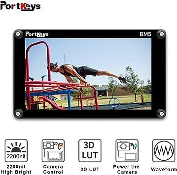 PortKeys BM5 - Monitor de campo para cámara réflex digital (5,2 ...