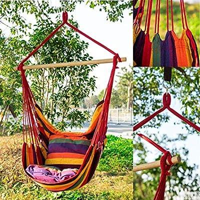 LEANO Max 330 lbs Hanging Rope Hammock Chair Swing Seat, Large Hammock Chair Relax Hanging Swing Chair for Indoor/Outdoor: Industrial & Scientific
