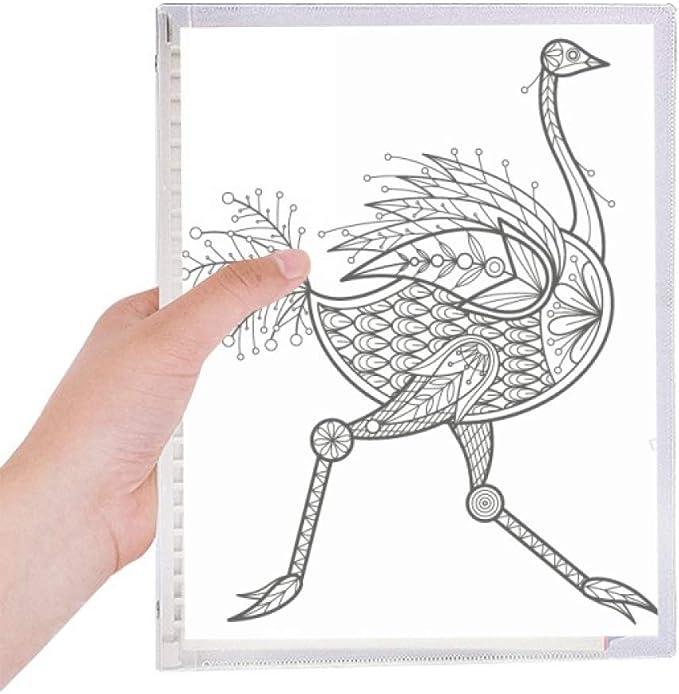 Cuaderno largo de hojas sueltas rellenable con pintura