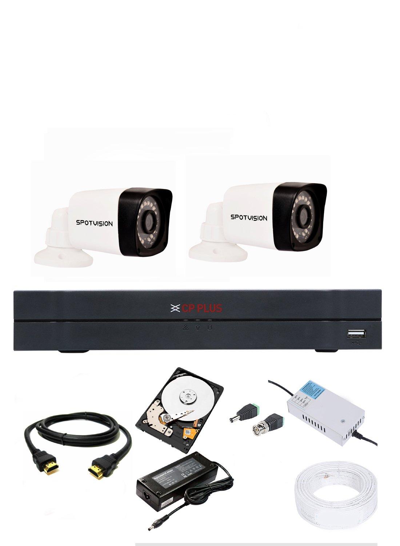 CP Plus 4 Channel 2.4MP HD Night Vision HD DVR 1080p Spotvision Bullet Camera - 2 Pieces (B07C85PZV9) Amazon Price History, Amazon Price Tracker