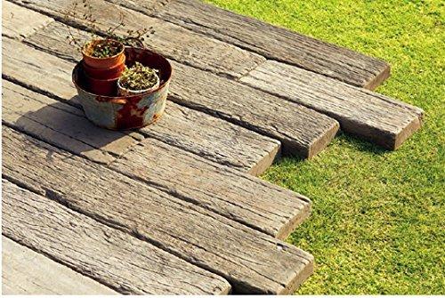 古木をリアルに再現したコンクリ-ト製.枕木 レイルスリ-パ-ペイブ (1200, オ-ルド) B010LLN0TU 1200|オ-ルド オルド 1200