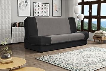 IWA Schwarz und Grau Couch mit Speicher Schlafbereich Kinder ...