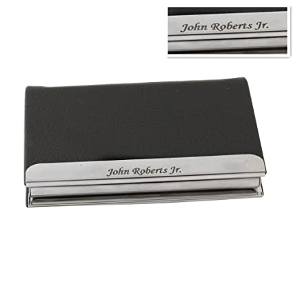 Amazon gp engravable business card holder custom leatherette gp engravable business card holder custom leatherette metal skin card case for men gift free colourmoves