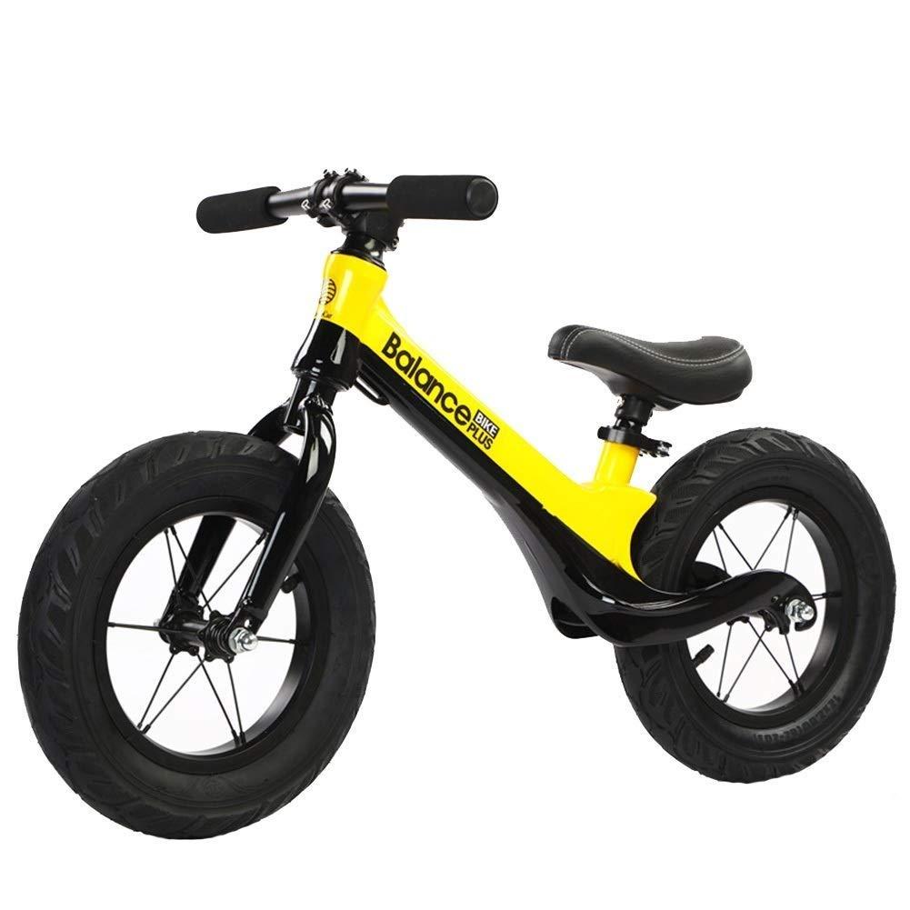 Balance Bike、男の子の女の子用バランシングバイク、2、3、4、5、6歳 - 調整可能ハンドルバー、パッド入りシート、ペダルスポーツなし、トレーニング自転車、ランニングバイク、黒と黄色 ZHAOFENGMING (Color : Yellow, Size : As shown) B07T5BJ23T Yellow As shown