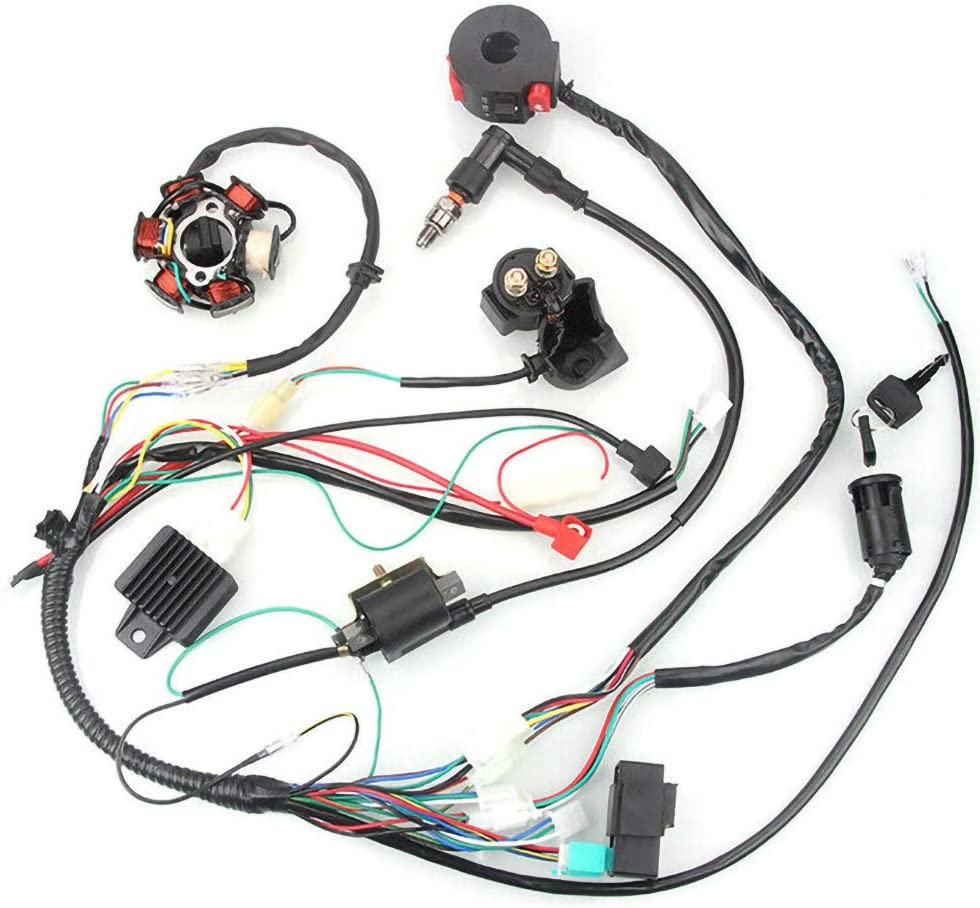 Selotrot CDI Wire Harness Assembly Wiring Set for 50cc-125cc Chinese ATV Electric Quad