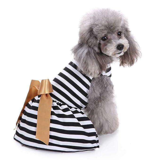 Ropa para Mascotas,Dragon868 Cómodas Rayas Vacaciones Casuales Mascotas Perros Camisas Ropa: Amazon.es: Ropa y accesorios