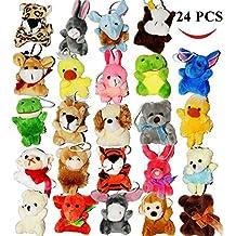 "Joyin Toy 24 Pack of Mini Animal Plush Easter Egg Stuffer Toy Assortment (24 units 3"" each) Kids Party Favors Kids Valentine Toy"