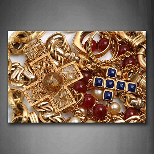First Wall Art - Various Jewelries Put Together Wall Art Pai