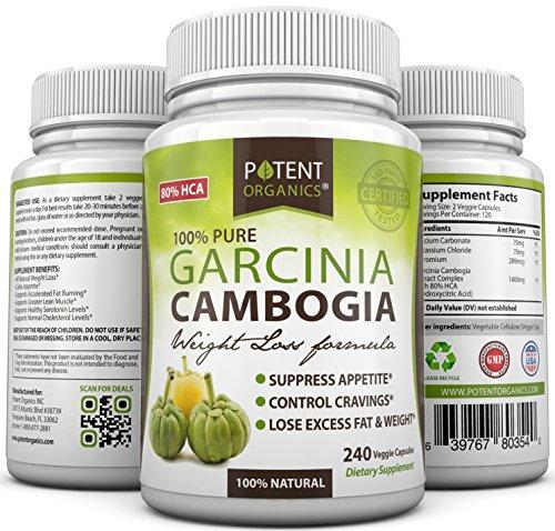 Extrait Pur Garcinia Cambogia - 240 comprimés - 80% HCA - les meilleurs suppléments de perte de poids - système digestif sain - coupe-faim naturel - 100% Durée de vie garantie de remboursement - Ordre des risques gratuit!