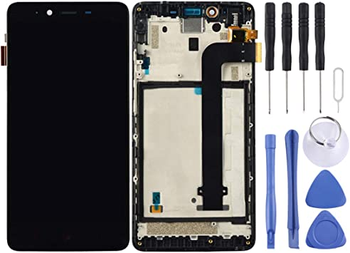 Color : Black Black LCD Screen Mobile Phone and Digitizer Full Assembly with Frame for Xiaomi Mi Play