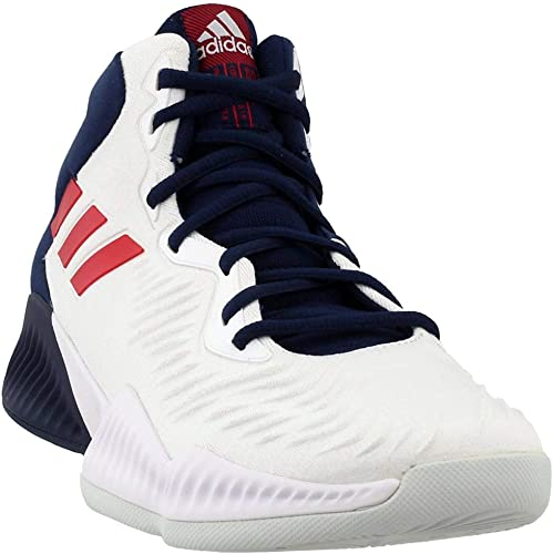 adidas Performance Mens Mad Bounce 2018 Lace Up Basketball Shoes Grey//White