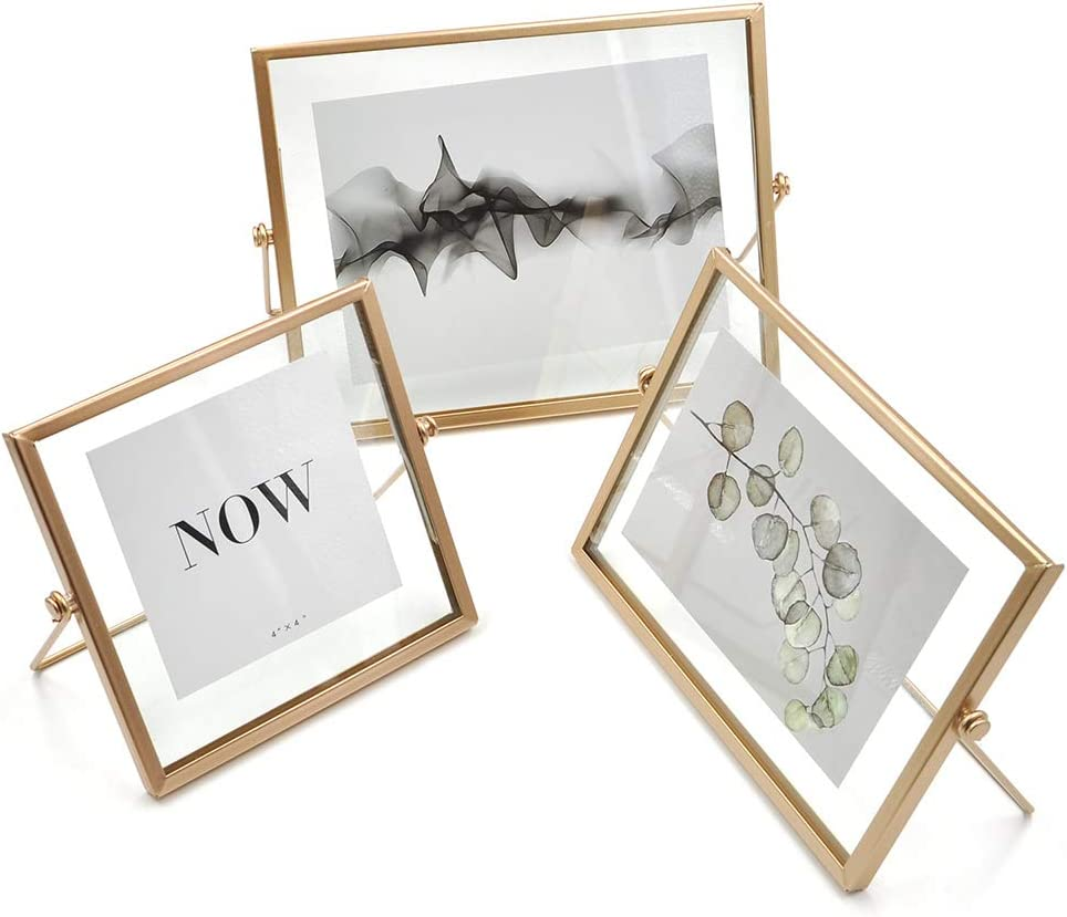 Amazon Com Acelist Set Of 3 Rose Gold Picture Frame For Aesthetic Room Decor 4 X 4 4 X 6 5 X 7 Picture Frame Set