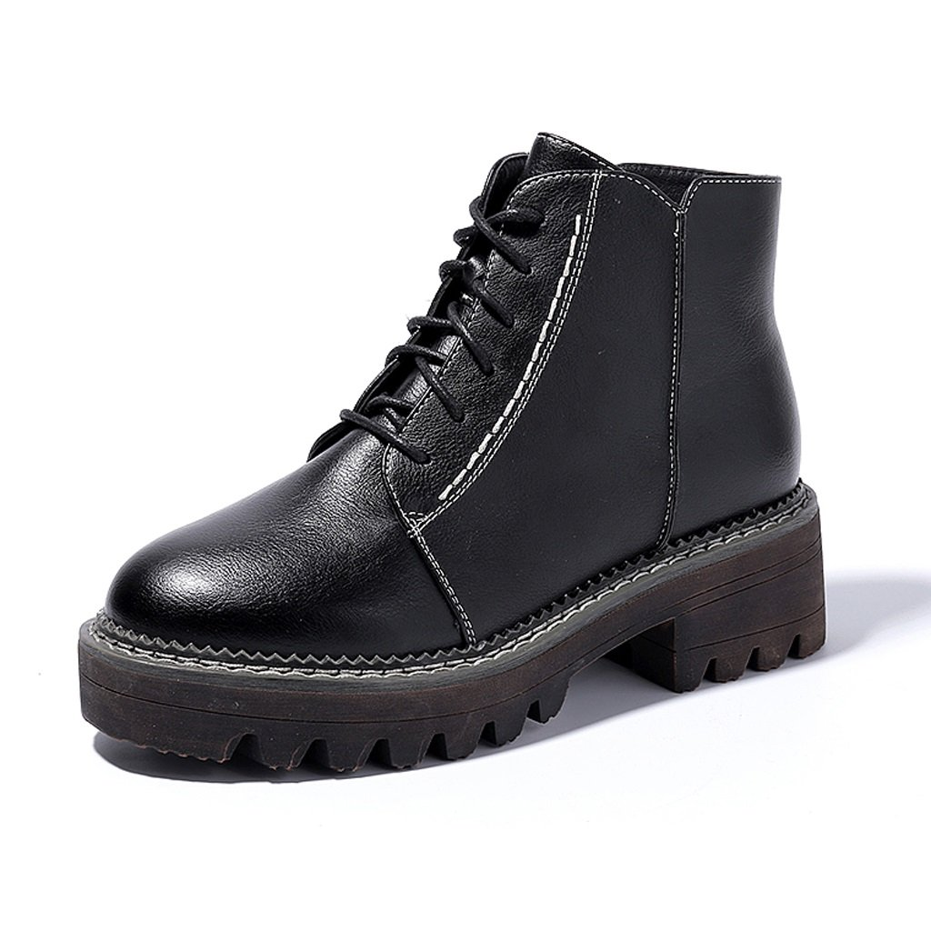 Women 's Martin boots autumn and winter short boots students personality tide shoes ( Color : Black , Size : US:6UK:5EUR:37 )