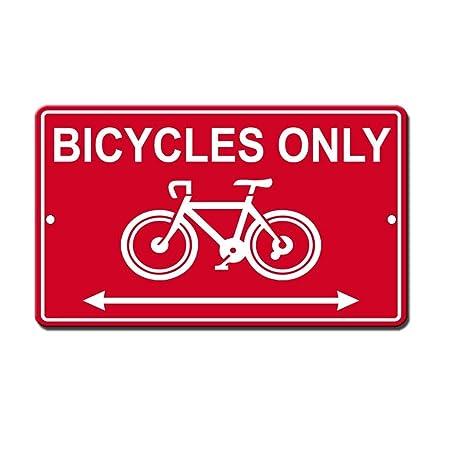Cartel divertido de aluminio para bicicletas de 20 x 30 cm ...