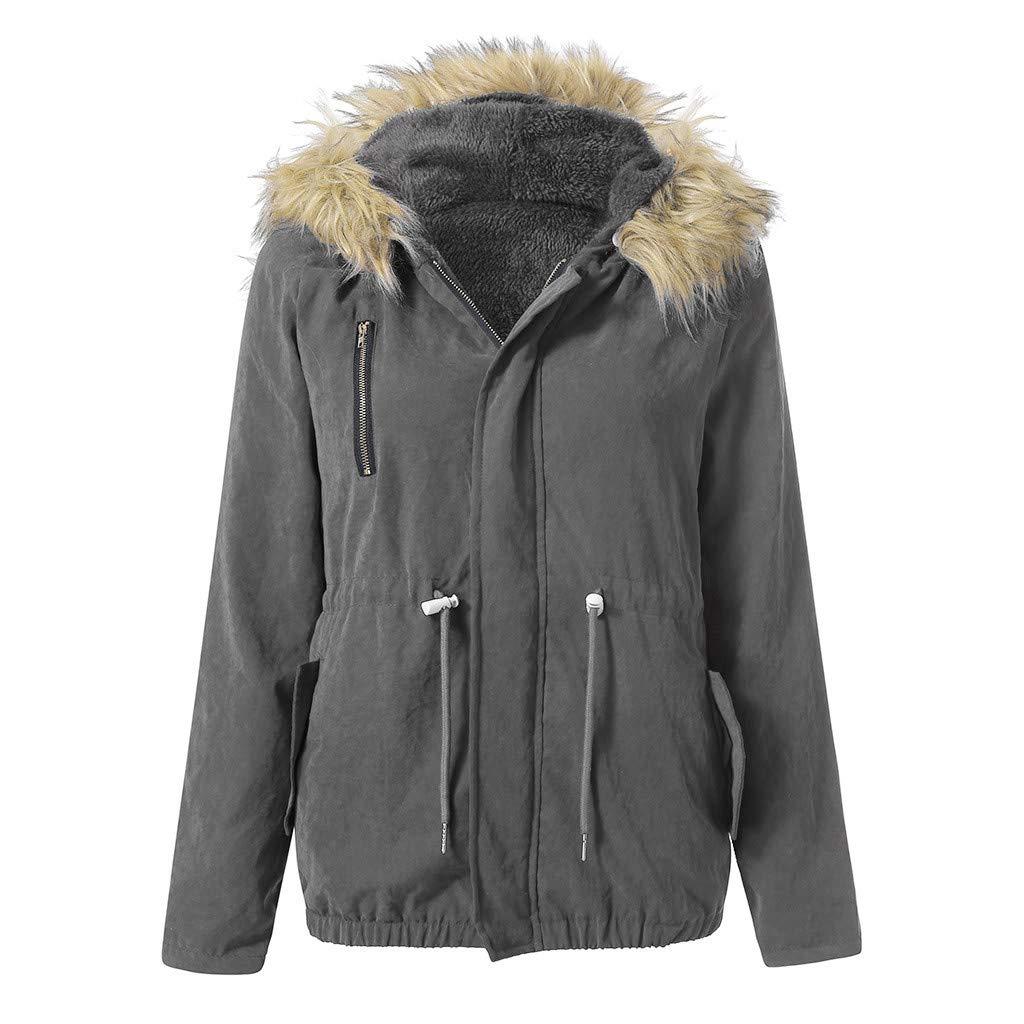 Women Fashion Winter Warm Military Hooded Jacket Casual Faux Fur Coat Outwear HHmei HHmei_Coats_8Nov21_166