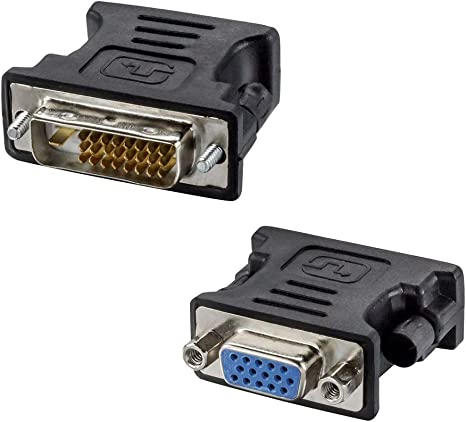 Dual Female DVI DVI-D 24+5 pin to Standard HDMI Adapter Cable Steckverbinder