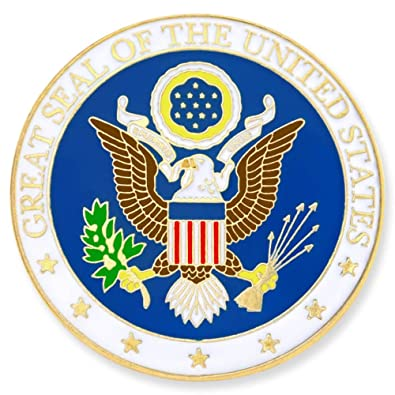 64d55635a Amazon.com: PinMart Great Seal of The United States Lapel Pin: Brooches And  Pins: Jewelry