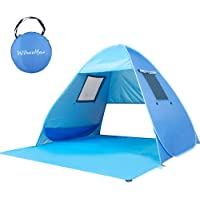 Wilwolfer Pop Up Baby Beach Tent Portable UV Protection Auto Canopy Beach Sun Shelter Shade Cabana for Outdoors