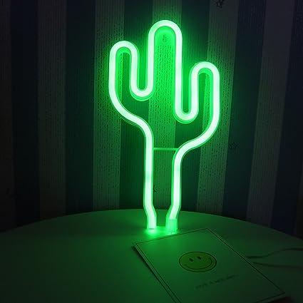Amazon delicore led cactus neon light sign wall decor night delicore led cactus neon light sign wall decor night lights home decoration party supplies led decorative aloadofball Images