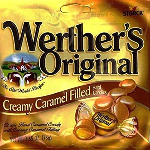 CDM product Werther's Original Creamy Caramel Filled Hard Candies, 2.65oz Bag (Pack of 4) big image