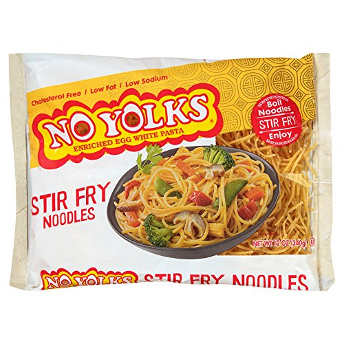 (No Yolks Stir Fry Egg Noodle, 12-Ounce (Pack of 4))