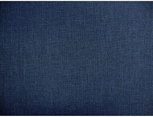 DCG Stores Umax Linen Texture Denim 24 Throw Pillows Set of 2, Proudly Made in USA