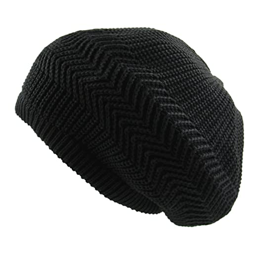 4e4644f6a20 RW Unisex Cotton Classic Rasta Beanie Tam (Black) at Amazon Men s ...