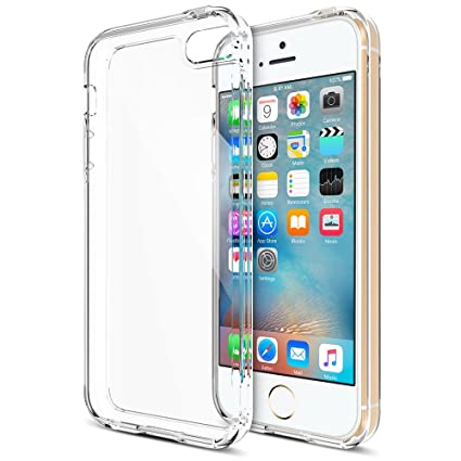finest selection b8d3e b3e28 Trianium iPhone 5S Case, [Clear Cushion] Protective Clear Bumper Cases for  Apple iPhone 5S [Scratch Resistant] Seamless Integrated Shock-Absorbing ...
