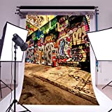 LB 5x7ft Street Graffiti Vinyl Photography Backdrop Customized Photo Background Studio Prop Wall Decor GY91