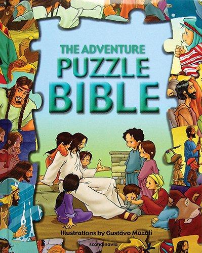 The Adventure Jigsaw Bible-Puzzle Bible-Bible Games-Bible Story Book for Children-Noah-Ark-Daniel-Lions-Jesus Feeds-Jesus Heals-Resurrected Jesus-Kid ... Board Book (Puzzle Bible Books)