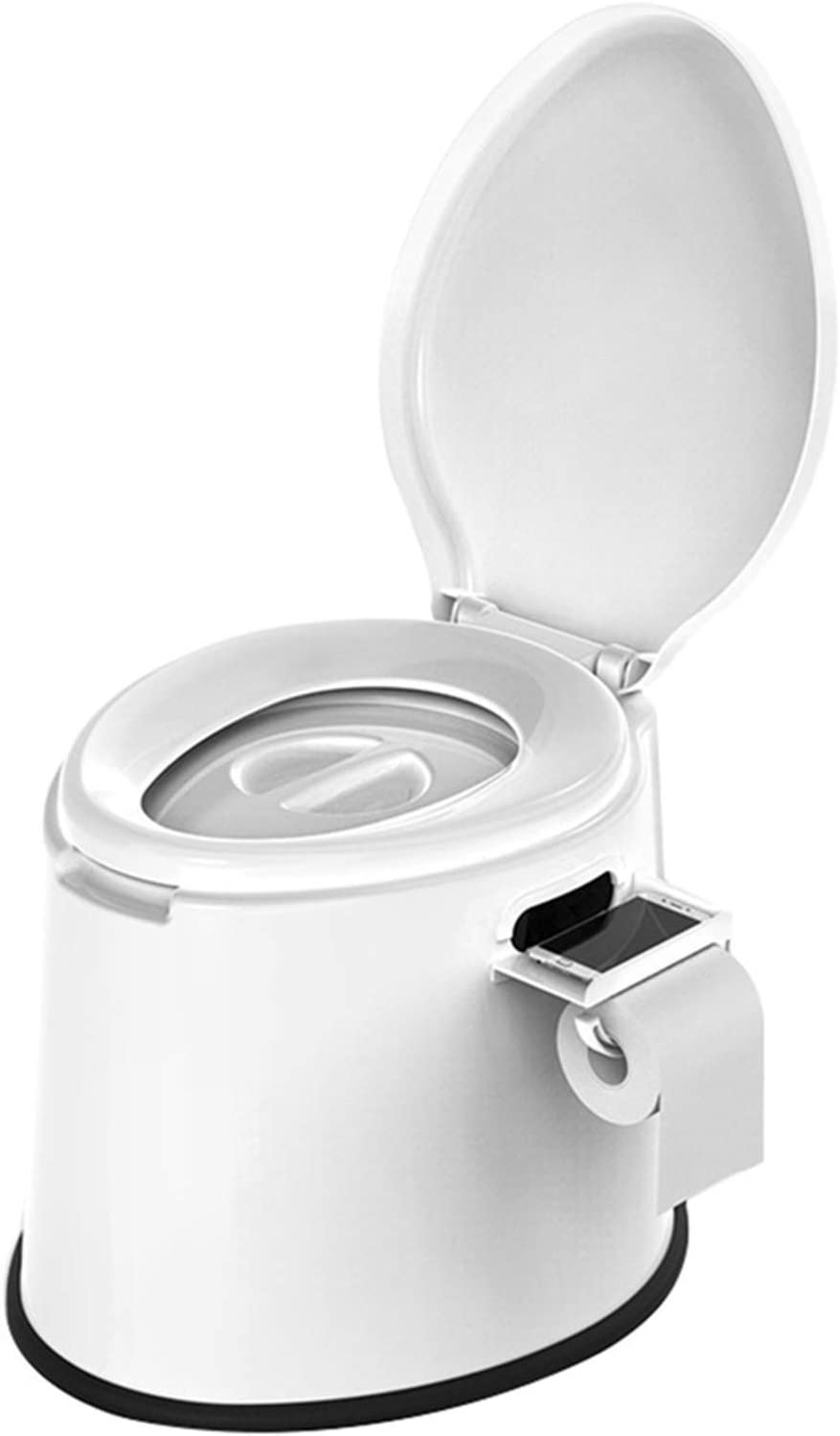Outdoor Portable Toilet, Travel Mobile Commode, Compact Anti-Skid Camping Toilet, Home Mobile Widened Toilet seat