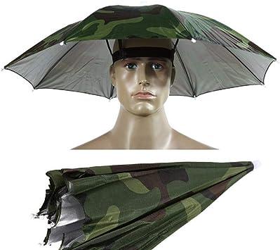 Gorra de Paraguas Gorras de Pesca 1 Pieza 55cm Sombrero de ...