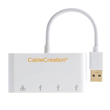 Amazon.com: cablecreation USB 3.1 Tipo C a 4 x USB3.0 Hub + ...
