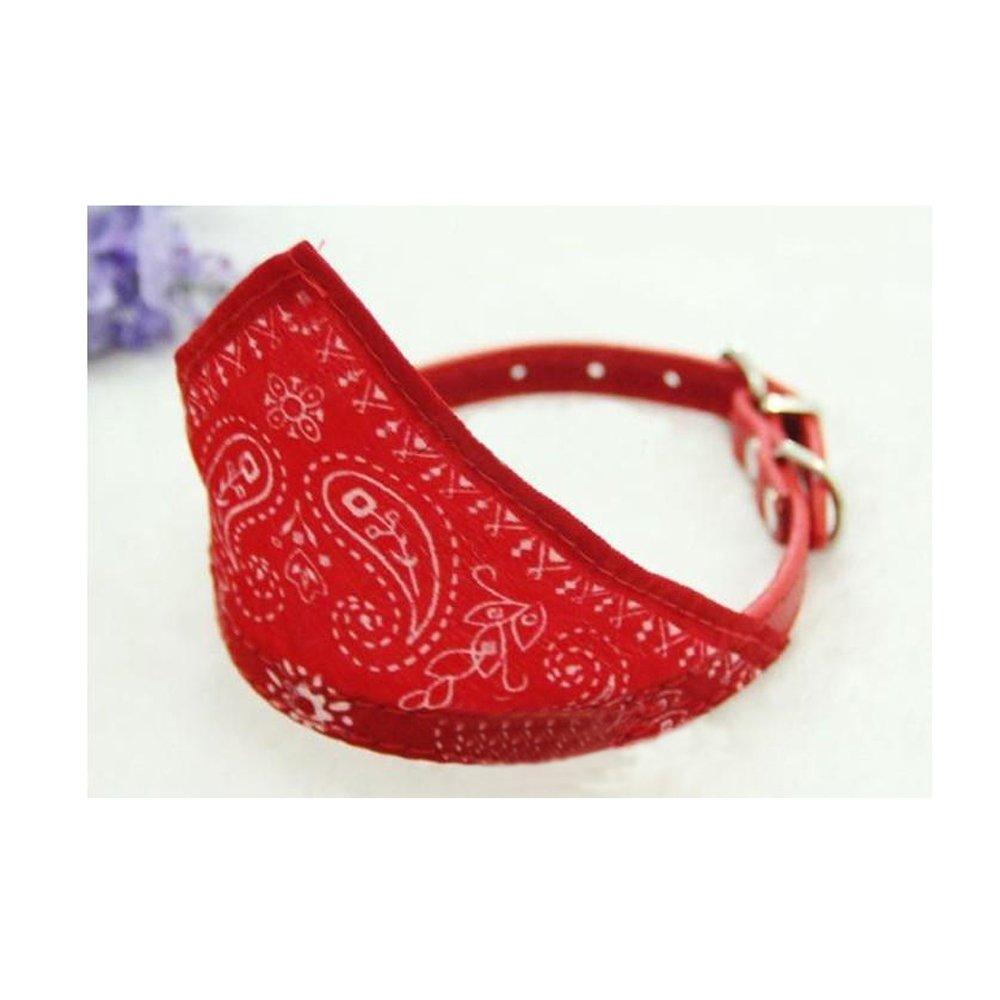 GOGOGO Décor Adorable réglable collier Pet chien chat chiot pour petit Bandana écharpe rouge