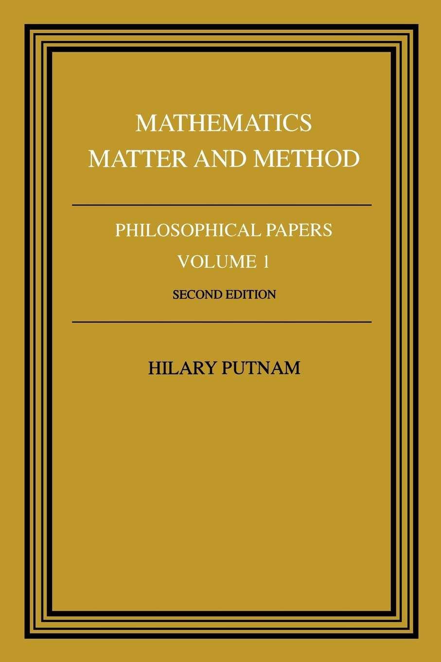 Philosophical Papers Mathematics V1  Philosophical Papers Vol 1