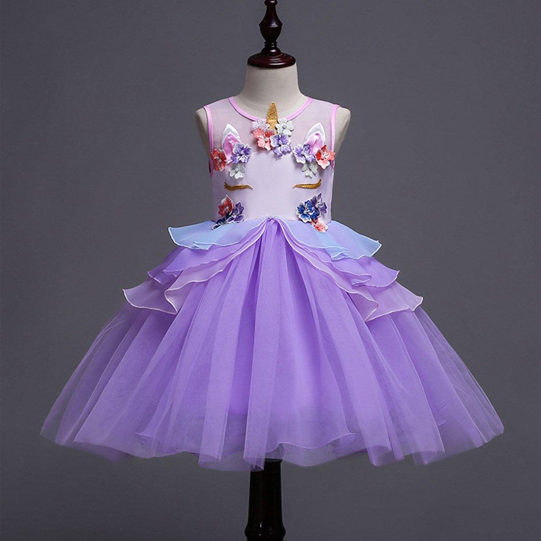 ADHS - Vestido de 9734 fiesta para niñas, - de diseño de flores ...