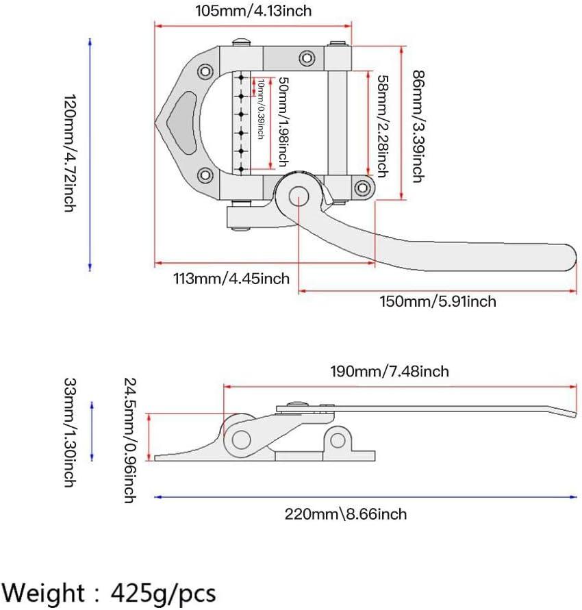 Guitar Tremolo Bridge Tailpiece /& Roller Saddle Locking Bridge per Gibson Bigsby ES355 Jazz Guitar Tremolo Vibrato Bridge Tailpiece Accessori per Chitarre Euopat Guitar Vibrato