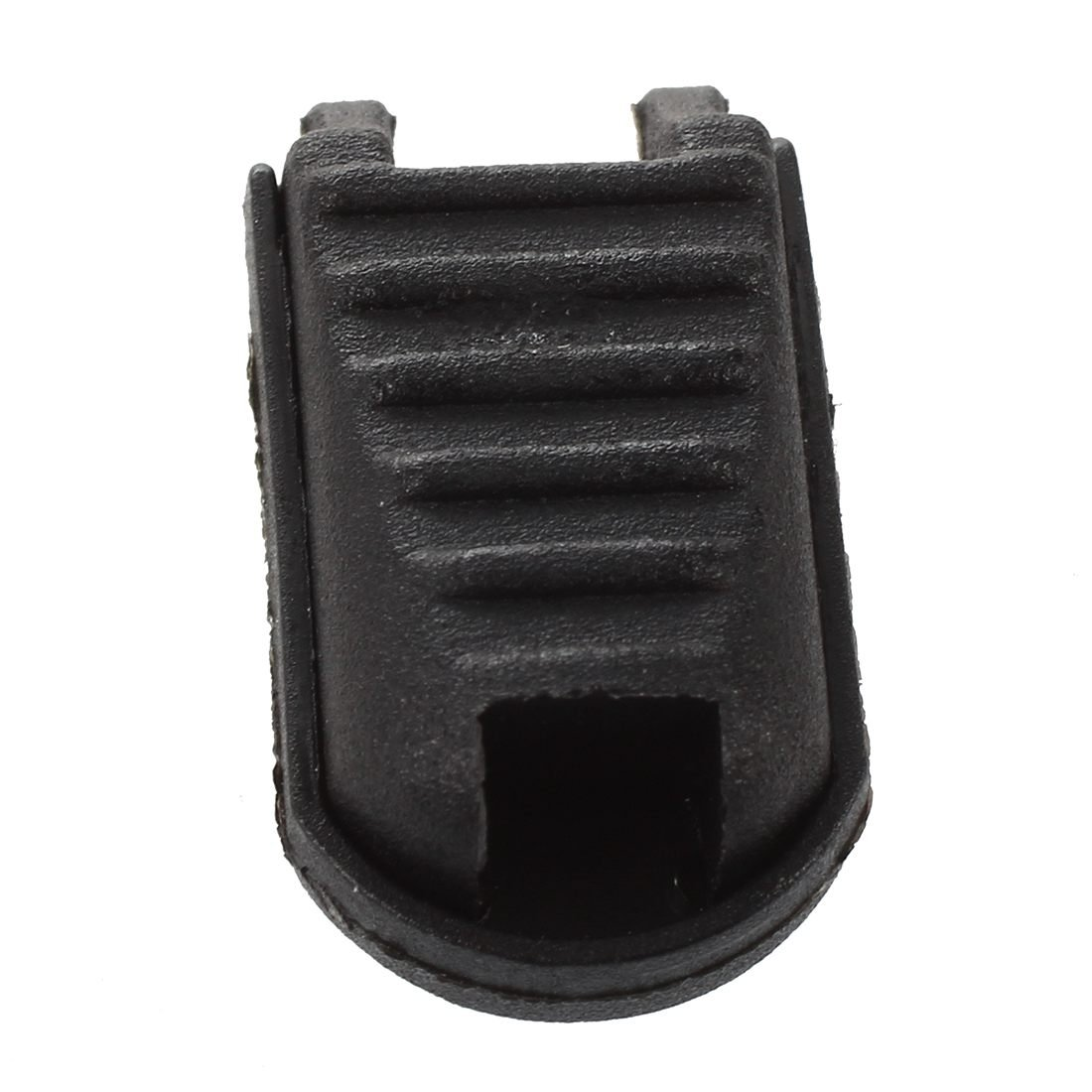 WOVELOT Cremallera Tire Cerradura de la Cuerda de Plastico Termina 5.5mm x 5.3mm 20pcs Negro