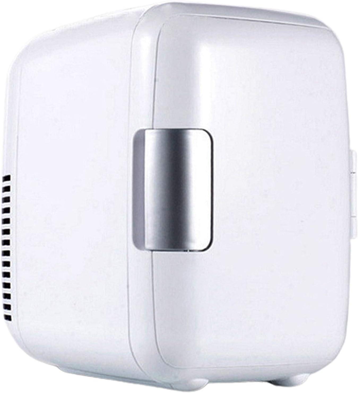YUACY Mini Drinks Fridge Slim 4L Car Refrigerator, 12V Counter Table Top Beverage Cooler Warmer Fridges Box for Skincare Drinks Office for Car Trunk RV (Color Name : White)