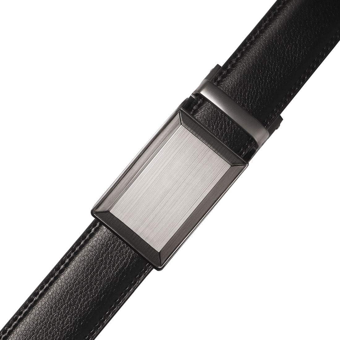 M.R Cintura da Uomo in Pelle con Fibbia a cricchetto Automatico Free Trim