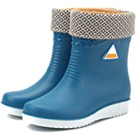 Lishiny Botas de chuva femininas impermeáveis e antiderrapantes, botas de chuva para uso ao ar livre, antiderrapantes…