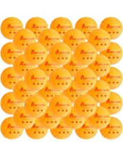 Portzon 3-Star Table Tennis Balls, 50 Pack Premium 40mm Orange Ping Pong Ball for Training Practice Tournament