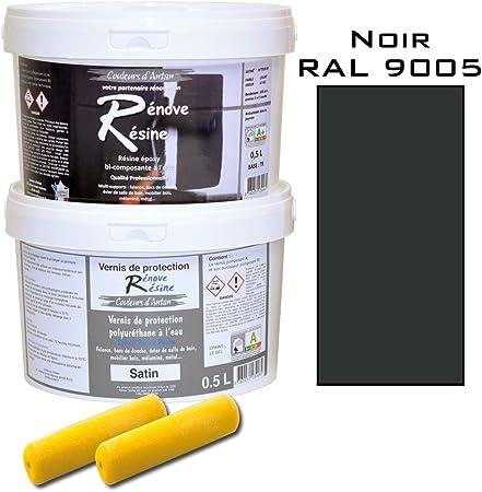 Peinture Resine Epoxy Coloree Multisupport Vernis Protection Satin Ideal Carrelage Evier Melamine Couleur Noir Ral 9005 0 5l Amazon Fr Bricolage