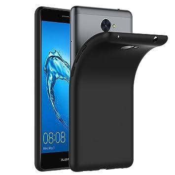 ivoler Funda Carcasa Gel Negro para Huawei Y7 2017 / Huawei Y7 Prime, Ultra Fina 0,33mm, Silicona TPU de Alta Resistencia y Flexibilidad