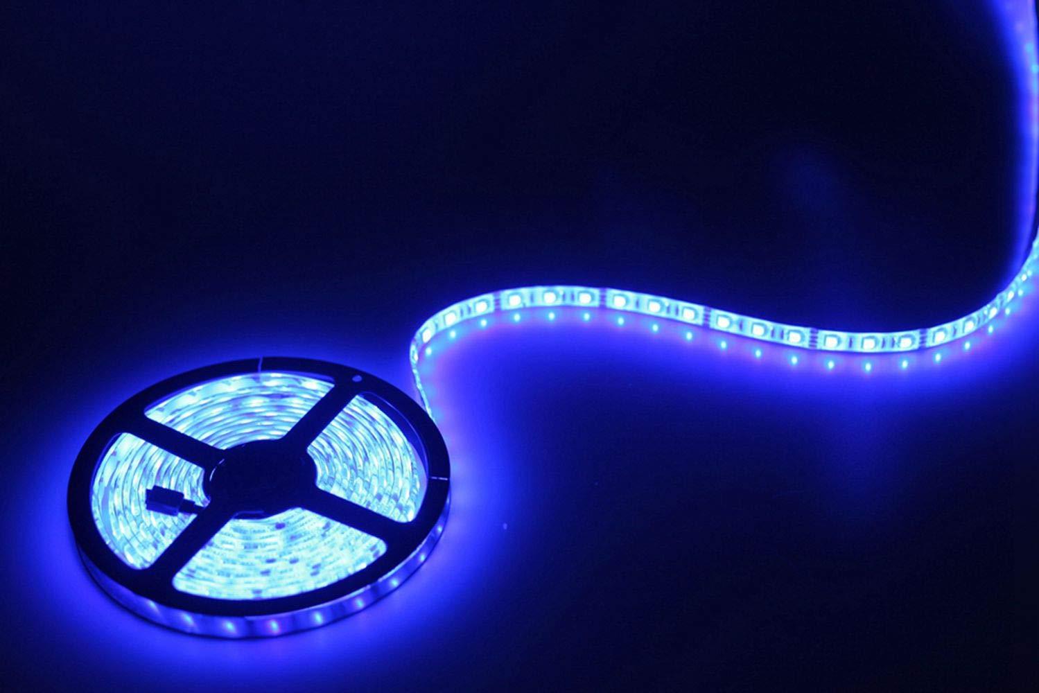 5m Striscia led RGB 5050 con Controllo remoto, Minger Luci LED Strip Incorporato Microfono, Sync to Music, Luce Impermeabile IP65, 300 LEDs Illuminazione Striscia Flessibile (DC 12V/3A) EULOCA