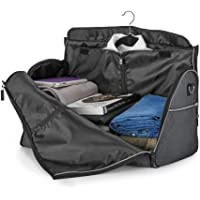 Waterproof Travel Bag Mens Garment Bags, Maleta Porta Traje Carry On Viaje De Negocios o gym para hombres (Negro)