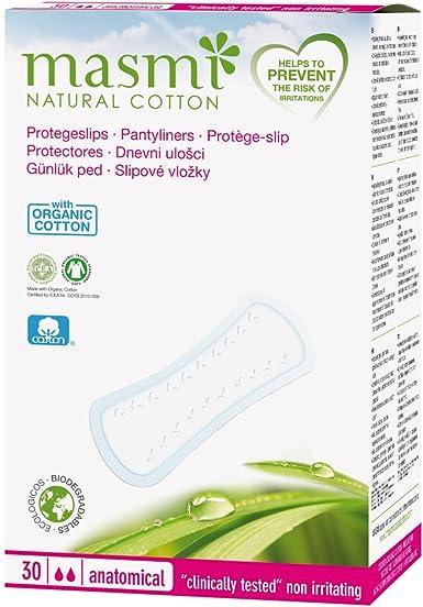 Masmi - Salvaslips de algodón ecológico, normal: Amazon.es ...