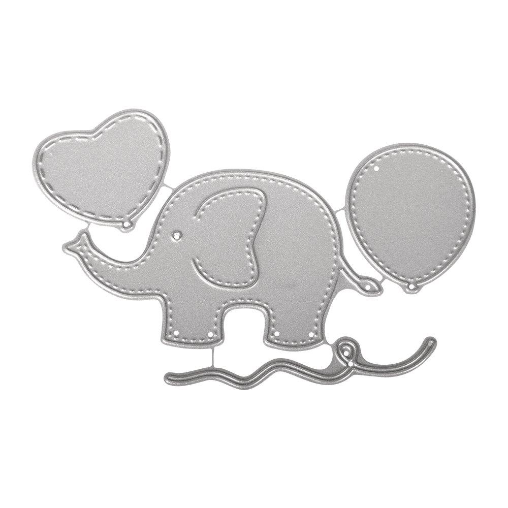 Rayher 59241000 - Stencil, Baby Elephant, SB-dimensioni, 4 pz, 2, 1-8, 5 cm Rayher Hobby