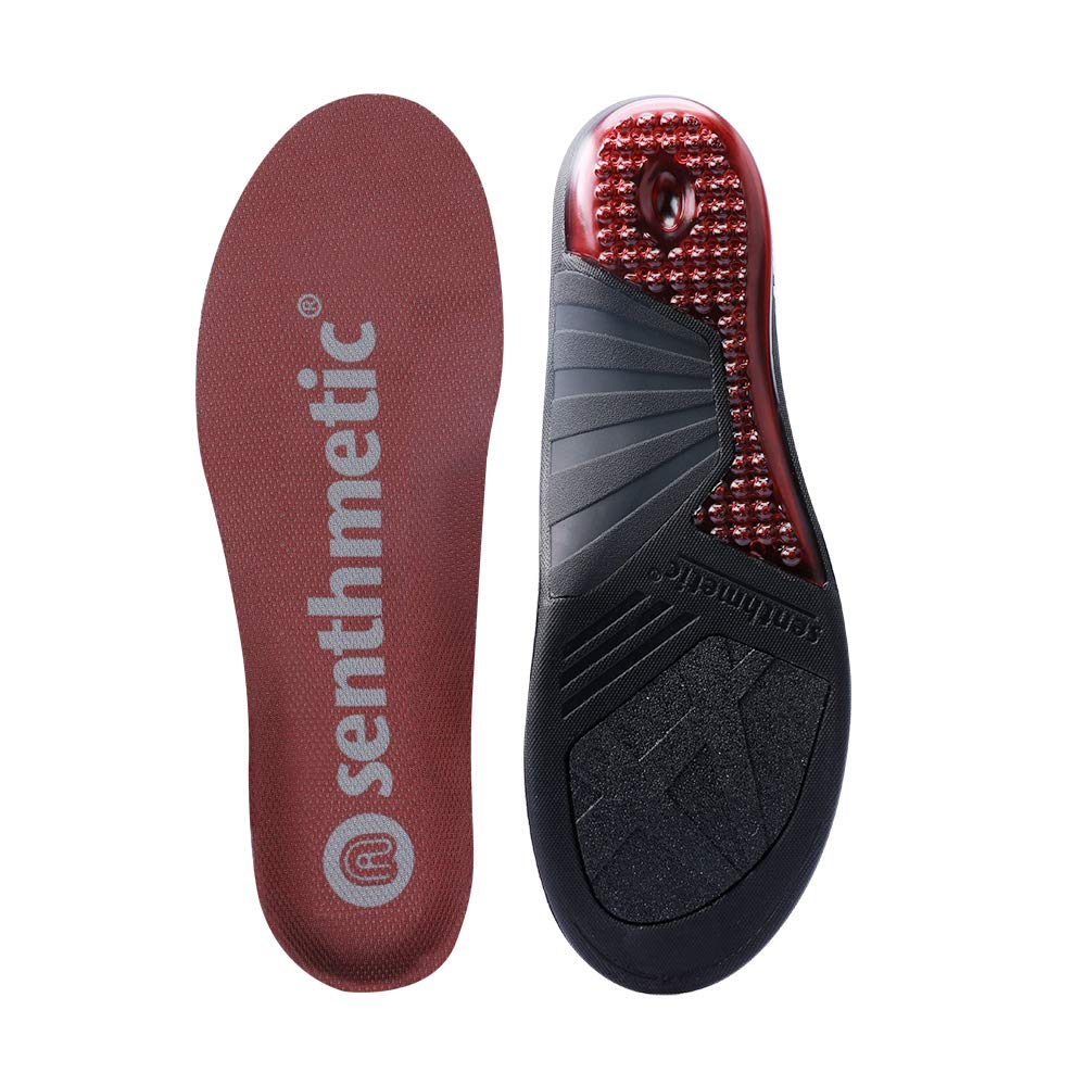 Senthmetic Basketball Insoles Full Length Orthotic with Arch Support - Best Shock Absorption & Cushioning Insoles for Plantar Fasciitis-from Man Size 8.5-9.5