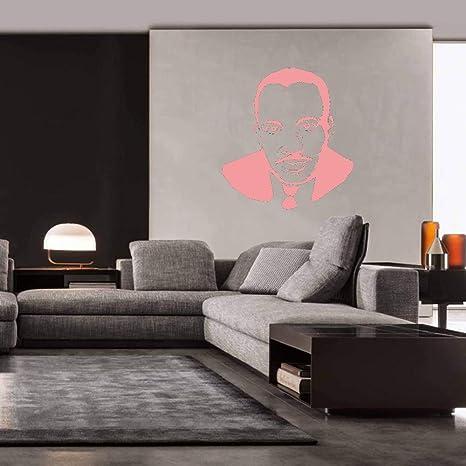 Martin Luther King Etiqueta de la pared Retrato Silueta Vinilo ...